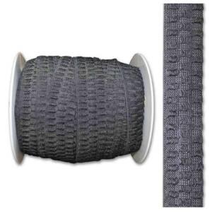 non curl elastic in black or white
