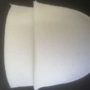 WHITE SHOULDER PADS