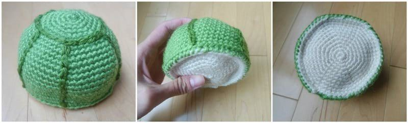Crochet Turtle Pattern - Bottom shell of turtle