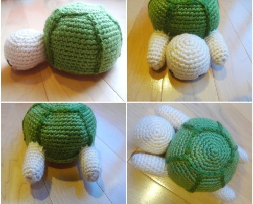 Crochet Turtle Pattern - Putting the turtle together