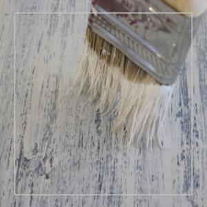 Paint techniques on wood