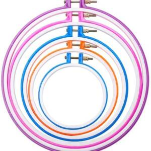 embroidery hoops in different sizes