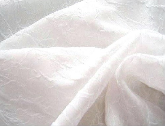 Plain Crushed Voile Fabric