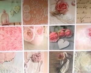 pink oilcloths with roses