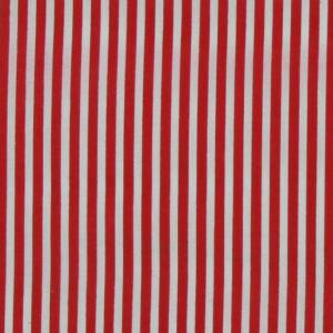 red stripes polycotton fabric