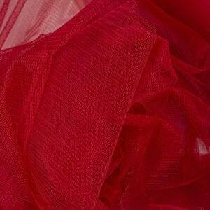 red tulle fabric