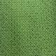 star cross design on green shweshwe fabric