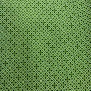 star cross design on green shweshwe fabric