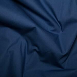 plain navy pure cotton linen fabric