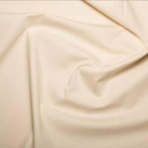 plain cream pure cotton linen fabric
