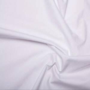 white pure linen cotton fabric