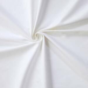 white cotton sateen fabric