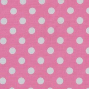 pink spot polycotton fabric