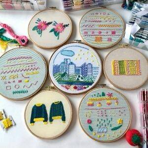 different stitches for embroidery