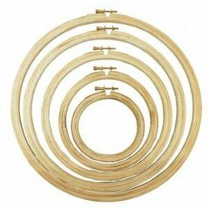 buy a wooden embroidery hoop