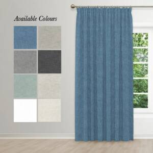WILLOW TAPED CURTAIN WITH COLOURS