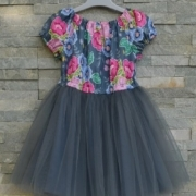 pattern for a girls dress using tulle fabric