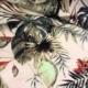 tropical pink printed viscose dress fabric