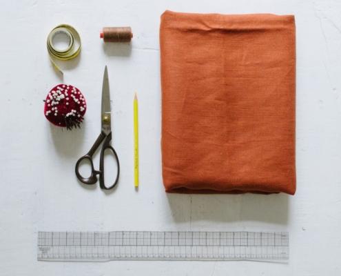 supplies needed to make wide leg pattern