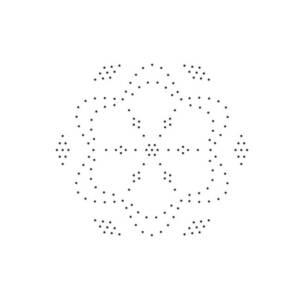 candlewicking mandala pattern