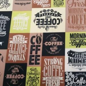 12492-N coffee time yellow mini matt