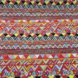 12492-J ethnic red stripes art mini matt