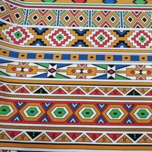 12492-H ethnic orange art mini matt
