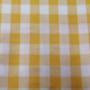 12492-D yellow checked mini matt