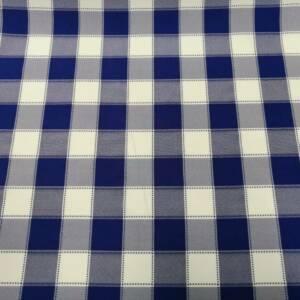 12492-A blue checked mini matt