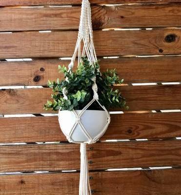 make a macrame pot hanger