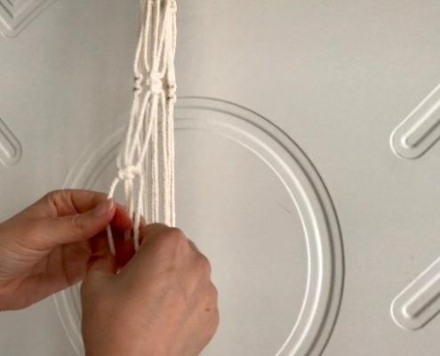 Step 21 - Netting Macrame