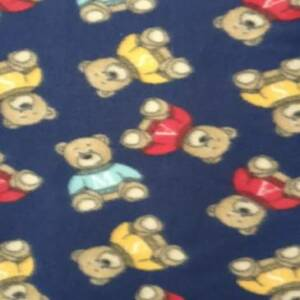 TEDDY BEARS PRINTED FLEECE