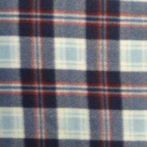 LIGHT BLUE AND RED CHECK PRINT