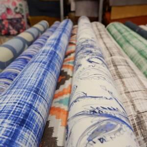 Printed Cotton Fabric by Stuart Graham