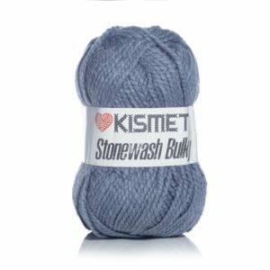 Melange denim stonewash bulky yarn